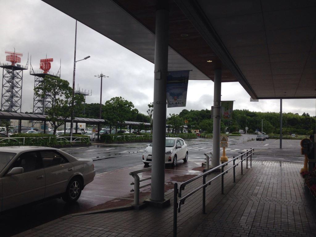 雨模様の大分空港