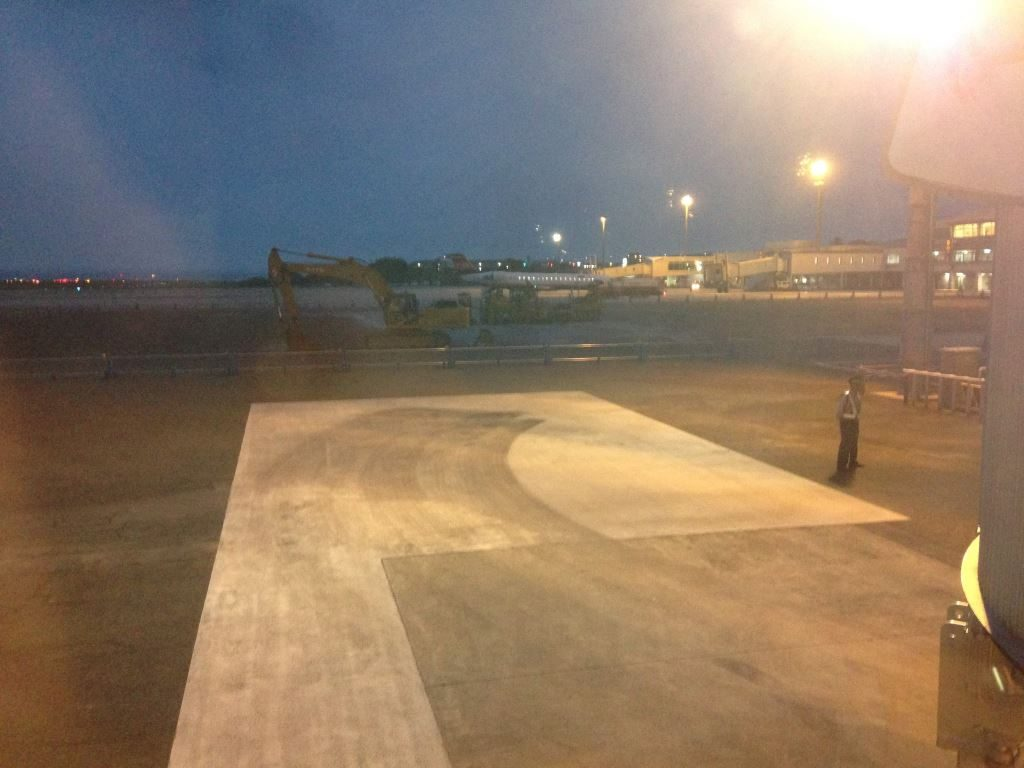 帰りの便から眺める大分空港
