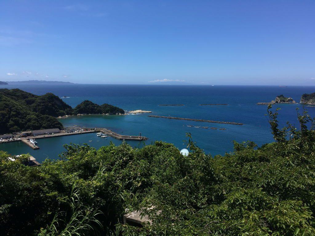 大黒山展望台から見る風景(南東側)