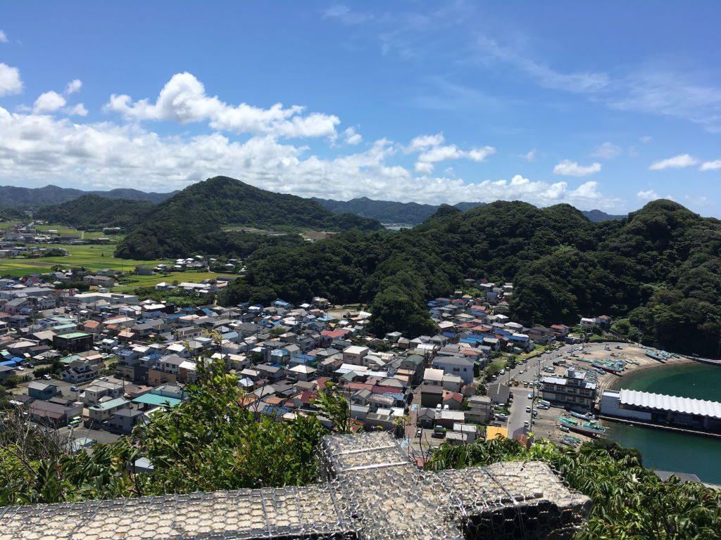 大黒山展望台から見る風景(南側)