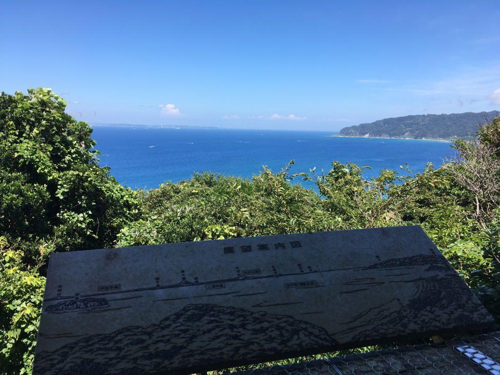 大黒山展望台から見る風景(西側)