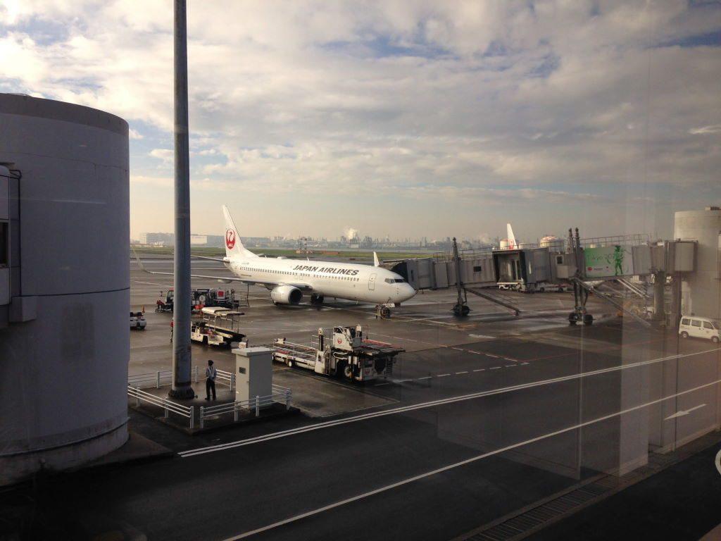 これから乗るJALの飛行機