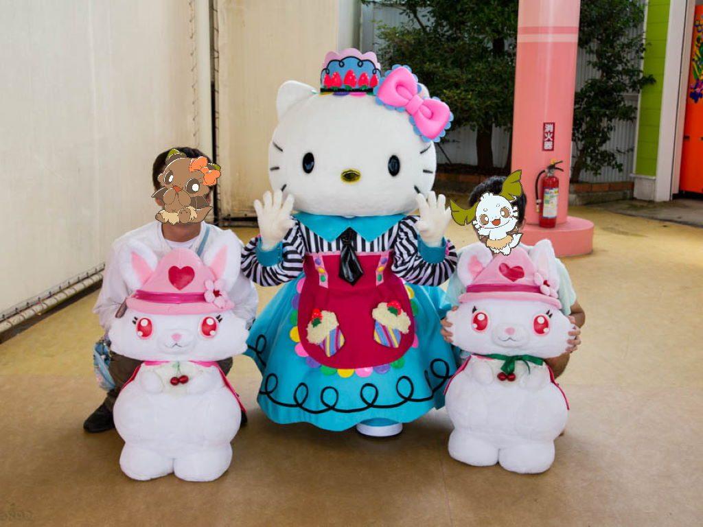 ルビーちゃんやオレ達とキティちゃん