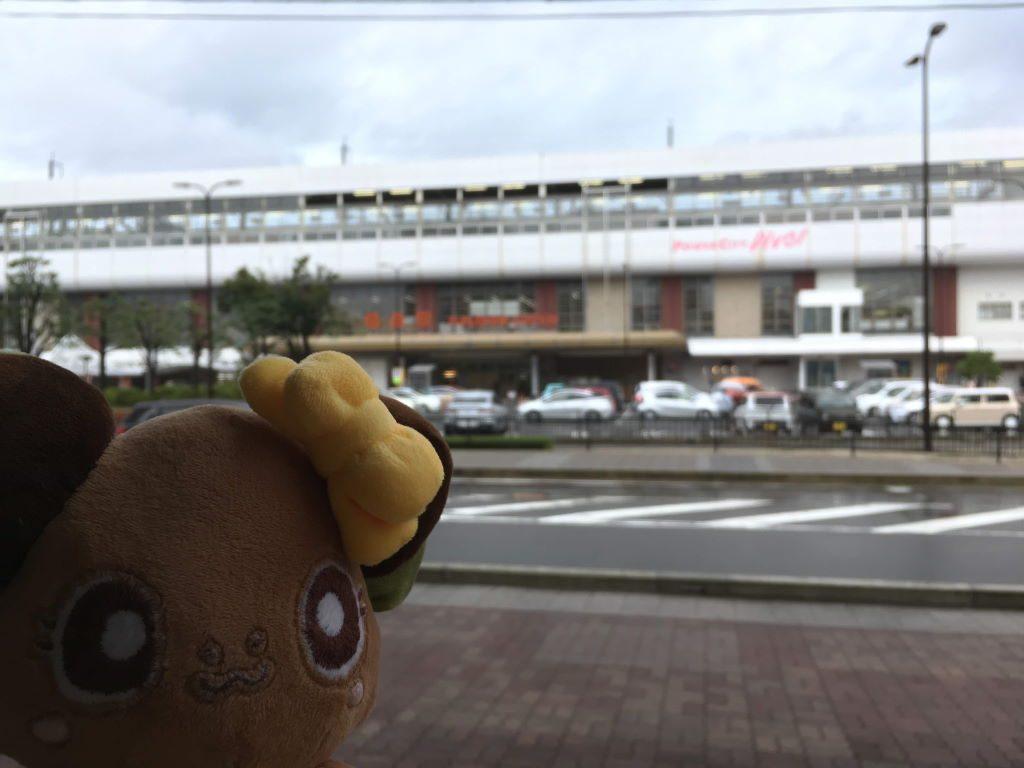 福島駅とボタンちゃん