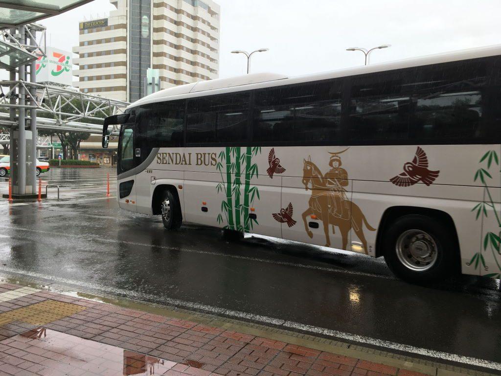 代行バスが帰っていく様子