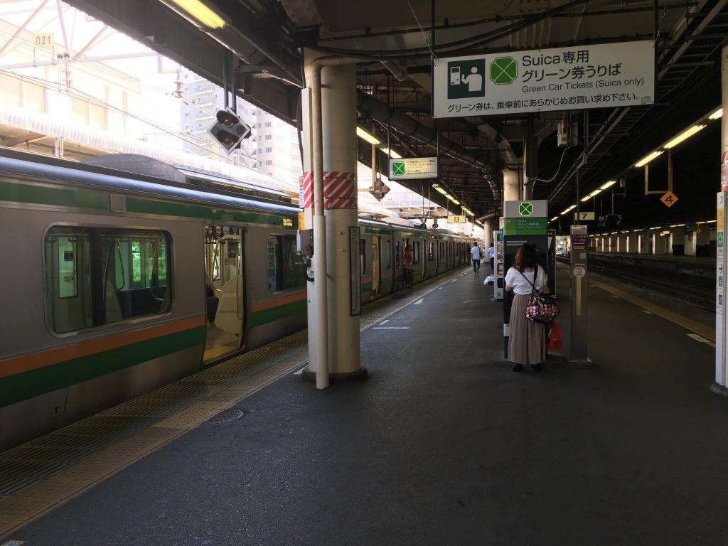 宇都宮駅のホーム