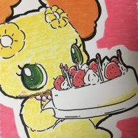 自分でケーキを持ってきてしまうプレーズ