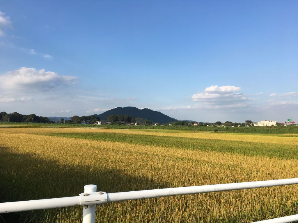 佐野の県道から見える綺麗な風景