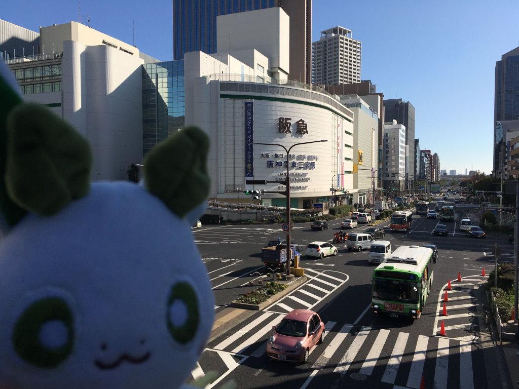 神戸三宮駅からの光景