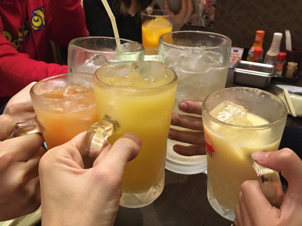 串カツの前に乾杯!