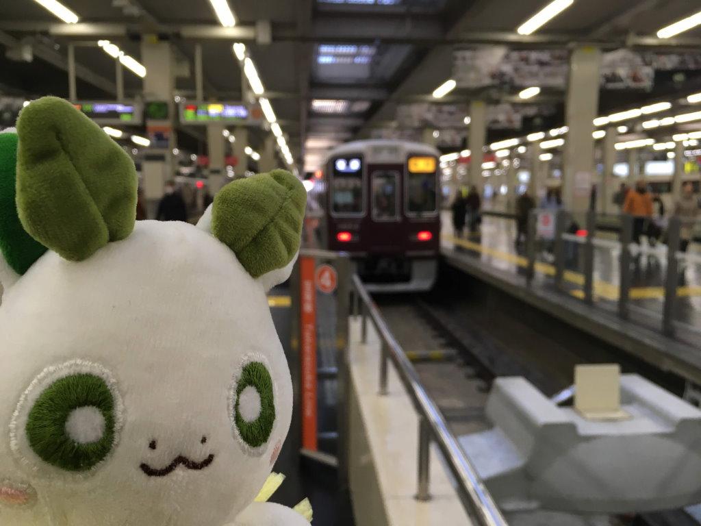 大阪梅田駅でのカッシーくん