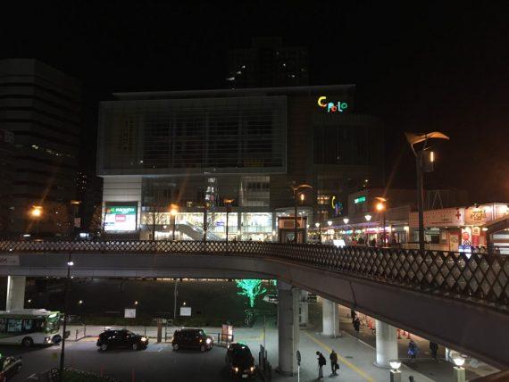 辺りが真っ暗になった川口駅前