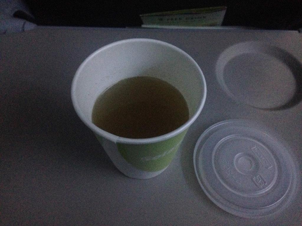 機内でウトウトしながら飲んでいたドリンク