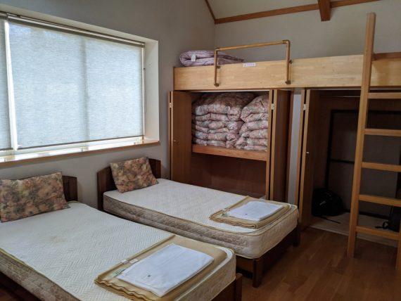 コテージの寝室