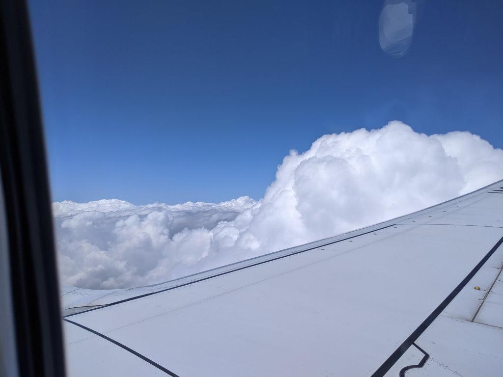 佐賀空港に向かう最中の空の上