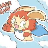 空から治安を見守るうさぎライオンくん