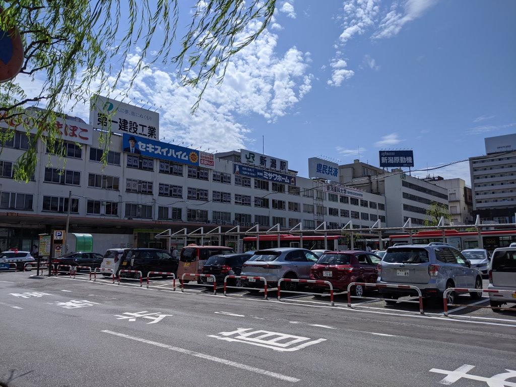 多分初めてのJR新潟駅南口
