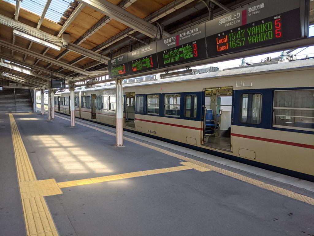 吉田駅ではどの電車が1時間間隔