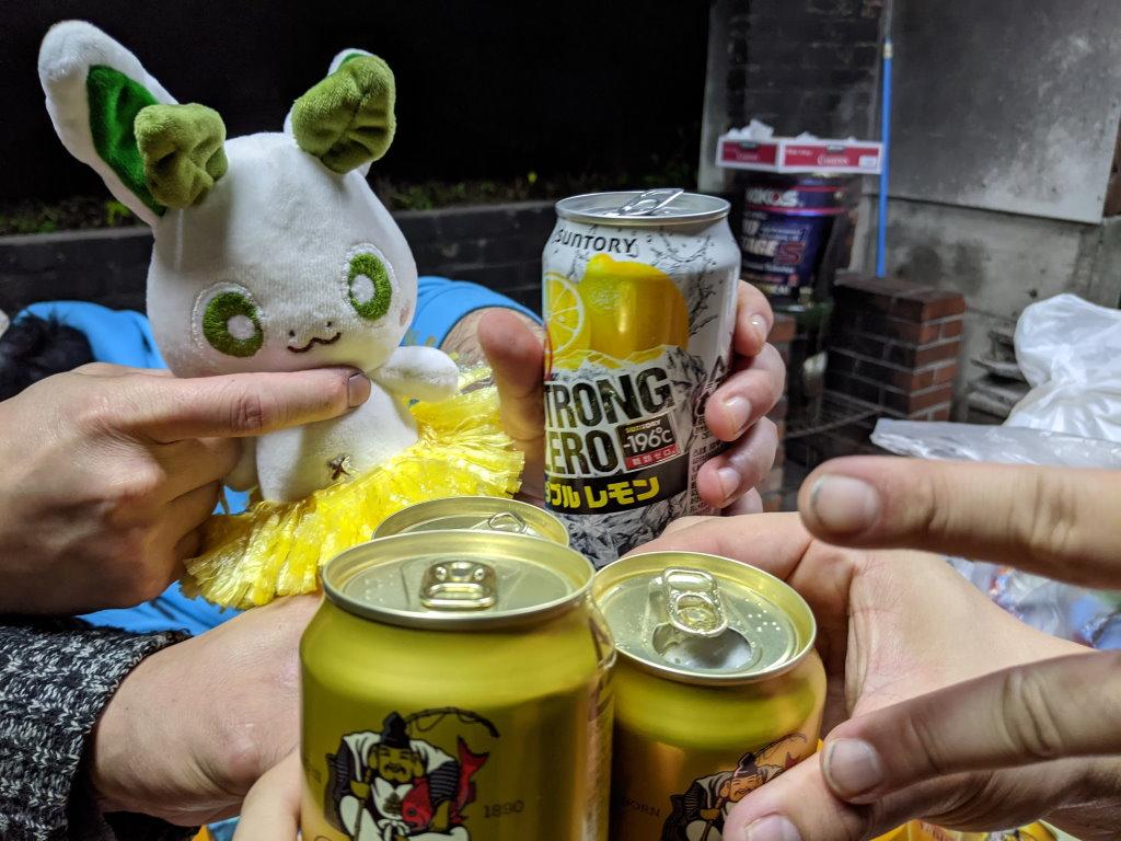 カッシーくんと一緒に乾杯!