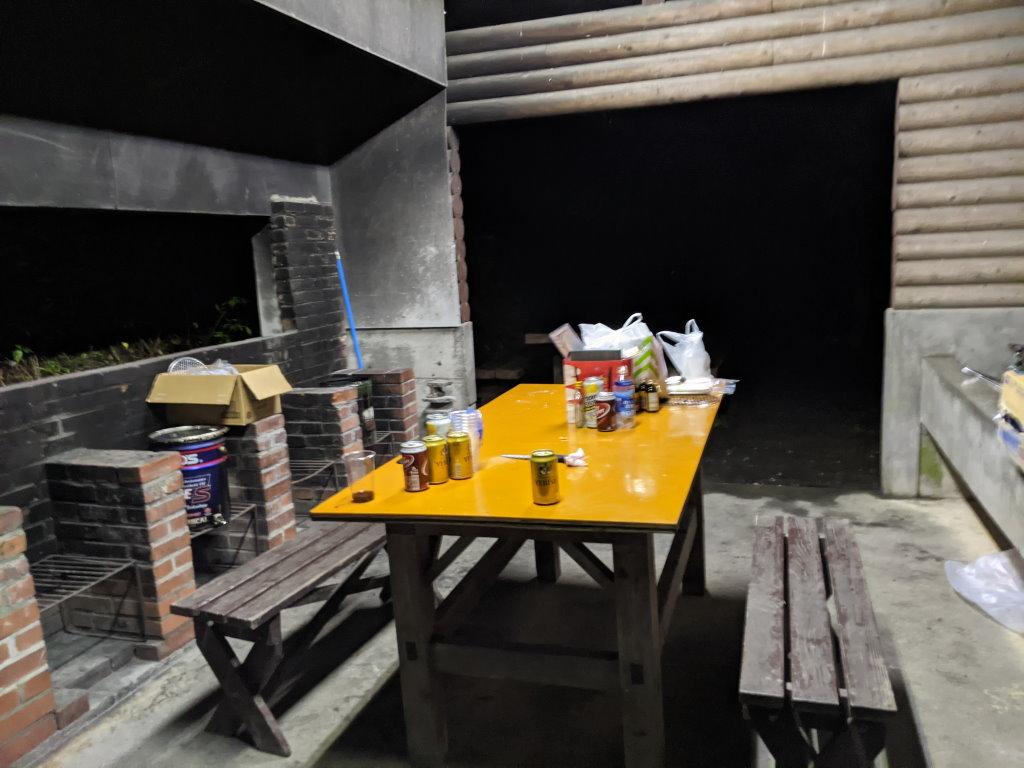 食事後の炊事場