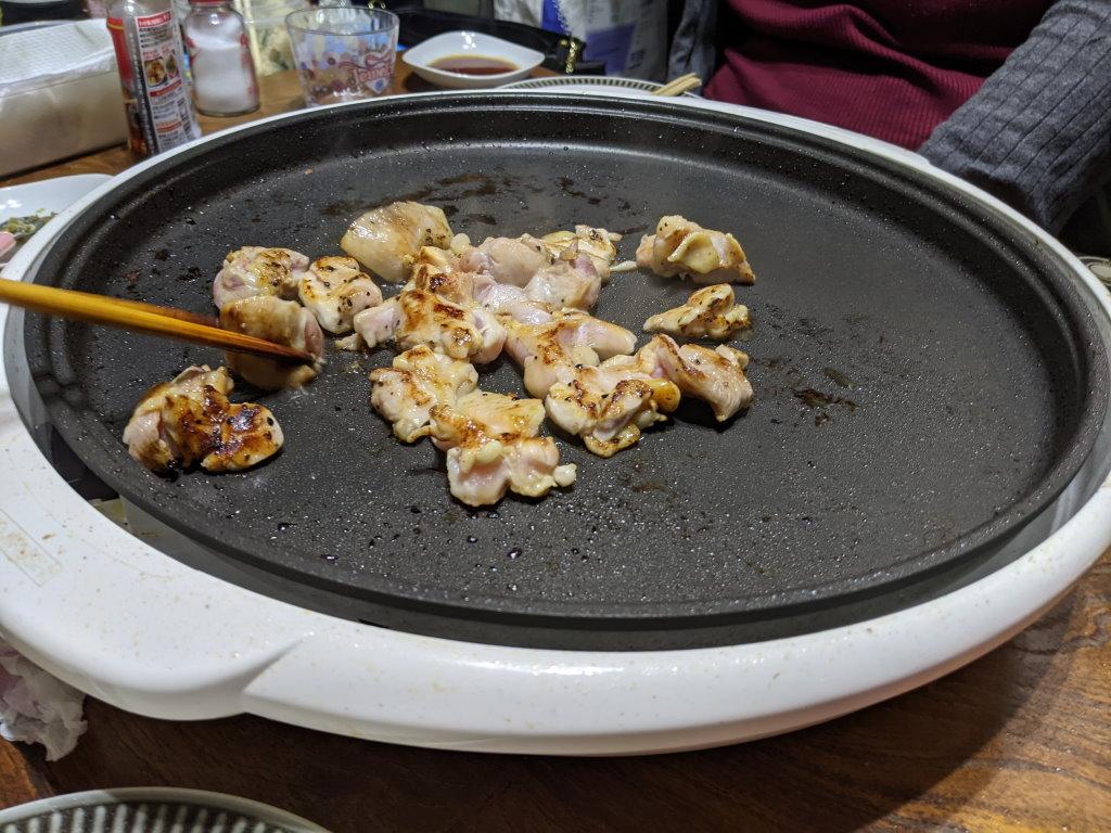 プルプルとした鶏肉