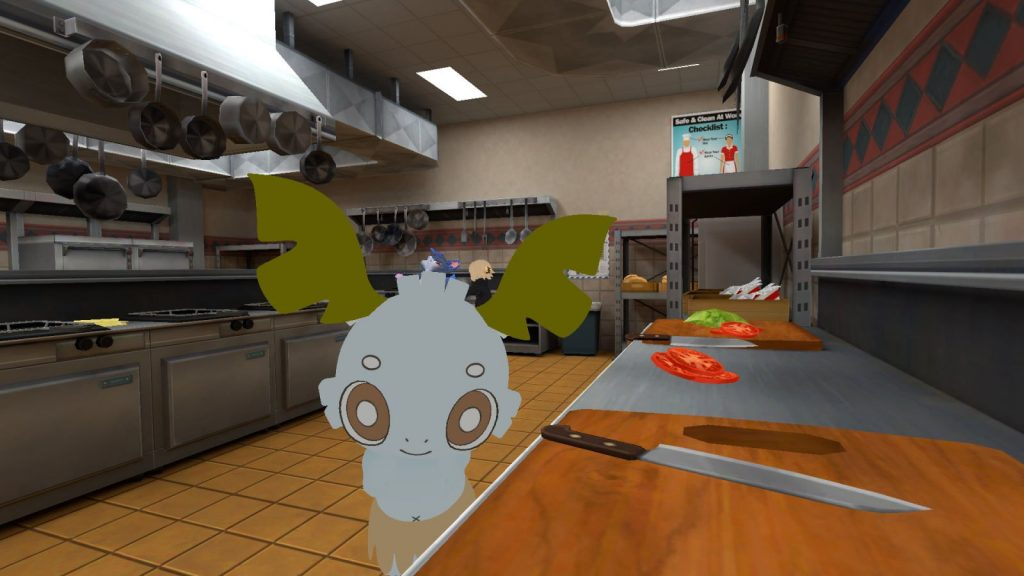 ハンバーガー屋さんのバックヤードとデココ