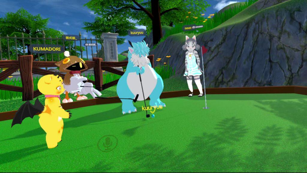 パターゴルフを楽しむ様子