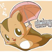 日傘を持つとぶっち