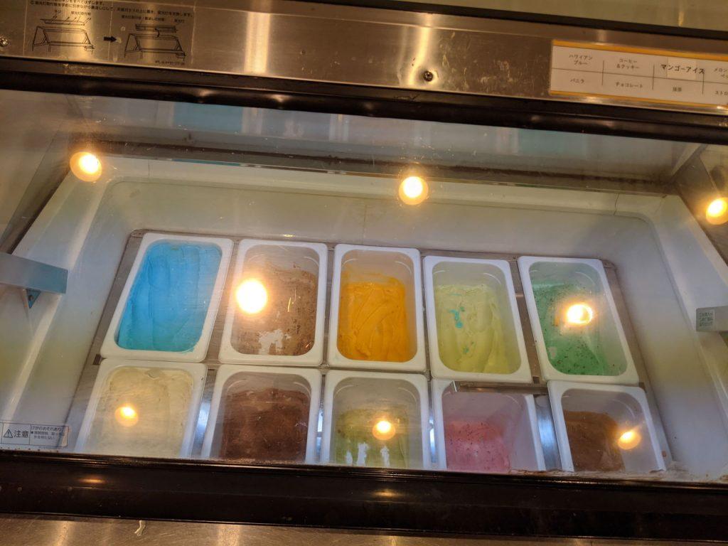 10種類あるアイス