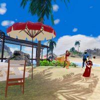 浜の設置された休憩場所