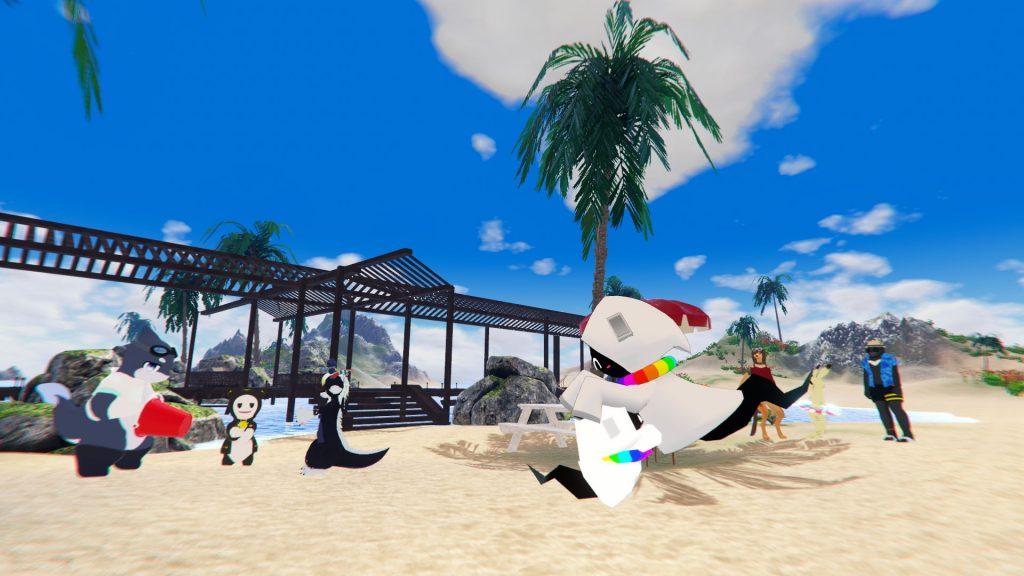 浜とヤシとテラス