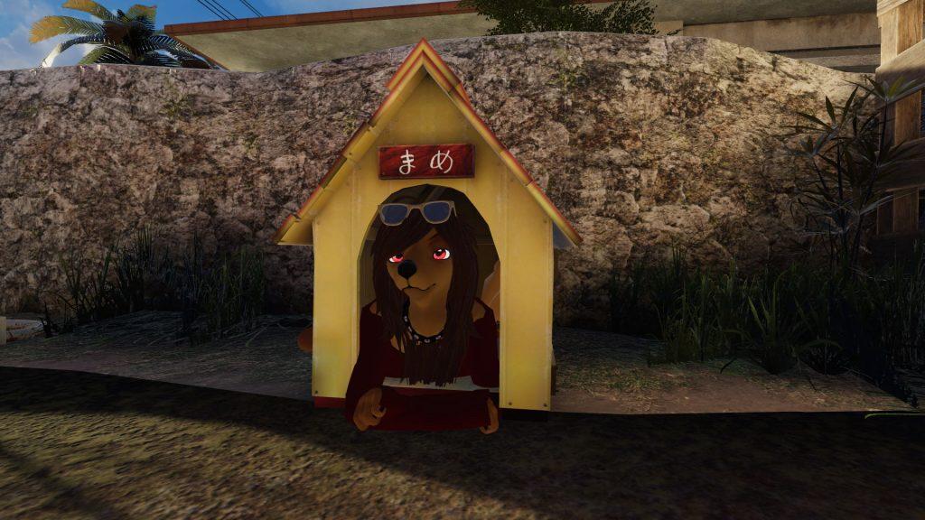 犬小屋とあまだらさん