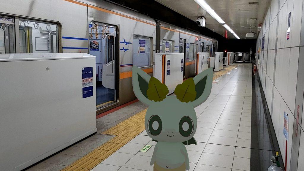 京成電鉄の空港第2ビル駅とカッシーくん