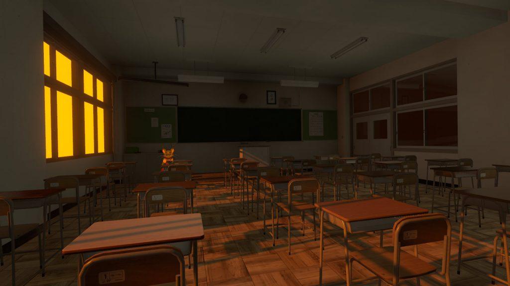 蝉の音が聞こえる平凡な教室