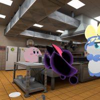 散らかったハンバーガー屋さんの厨房