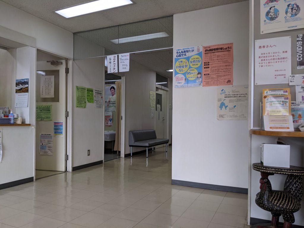 1回目を受けた後のワクチン接種会場
